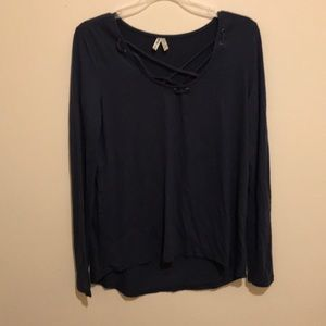 criss cross long sleeve top from kohl's